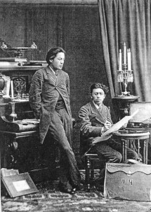 Chekhov_with_brother_1882