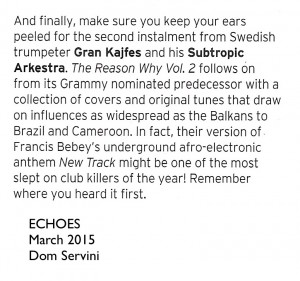 GK - ECHOES March 2015